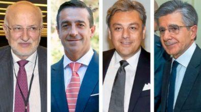 De izq a dcha: Juan Roig, presidente de Mercadona; Juan Manuel Morales, director del Grupo IFA; Luca de Meo, presidente del grupo Seat; Antonio Zabalza, presidente del grupo Ecros (Expansión)
